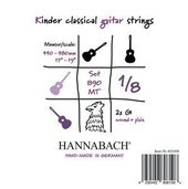HANNABACH STRINGS FOR CLASSIC GUITAR SERIE 890 1/8 GUITAR FOR CHILDREN DUEL: 44-48 CM