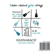 HANNABACH STRINGS FOR CLASSIC GUITAR SERIE 890 1/4 GUITAR FOR CHILDREN DUEL: 49-52 CM