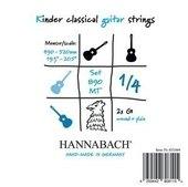 HANNABACH CORDES GUITARE CLASSIQUE SERIE 890 GUITARE ENFANT 1/4 DIAPASON: 49-52CM