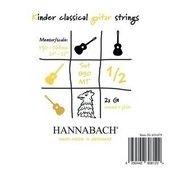 HANNABACH CORDES GUITARE CLASSIQUE SERIE 890 GUITARE ENFANT 1/2 DIAPASON: 53-56CM