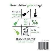 HANNABACH CORDES GUITARE CLASSIQUE SERIE 890 GUITARE ENFANT 3/4 DIAPASON: 57-61CM
