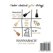 HANNABACH STRINGS FOR CLASSIC GUITAR SERIE 890 7/8 GUITAR FOR CHILDREN DUEL: 62-64 CM