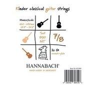 HANNABACH CORDES GUITARE CLASSIQUE SERIE 890 GUITARE ENFANT 7/8 DIAPASON 62-64CM