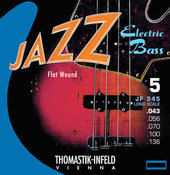 THOMASTIK-INFELD SÄHKÖBASSON KIELET JAZZ BASS SERIES NICKEL FLAT WOUND. HIOTTU
