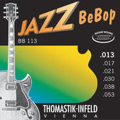 THOMASTIK-INFELD STRINGS FOR E-GUITAR JAZZ BEBOB SERIES NICKEL ROUND WOUND