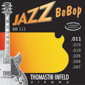 THOMASTIK-INFELD E-GITAARSNAREN JAZZ BEBOP NICKEL ROUND WOUND