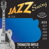 THOMASTIK-INFELD E-GITAARSNAREN JAZZ SWING SERIES NICKEL FLAT WOUND
