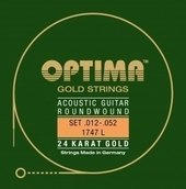 OPTIMA AKUSTISEN KITARAN KIELET GOLD STRINGS