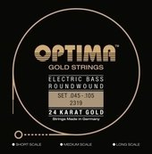 OPTIMA E-BASGITAARSNAREN GOLD STRINGS ROUND WOUND