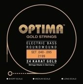 OPTIMA CORDE BASSE ÉLECTRIQUE GOLD STRINGS ROUND WOUND