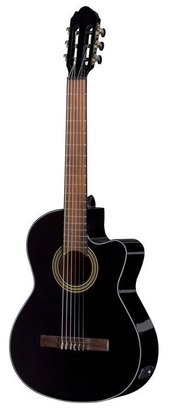 GEWA E-ACOUSTIC CLASSICAL GUITAR STUDENT BLACK