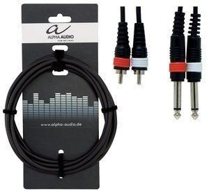 GEWA - Twin kabel Basic Line (2x 6,3 mm Mono Jack - 2x Cinch )