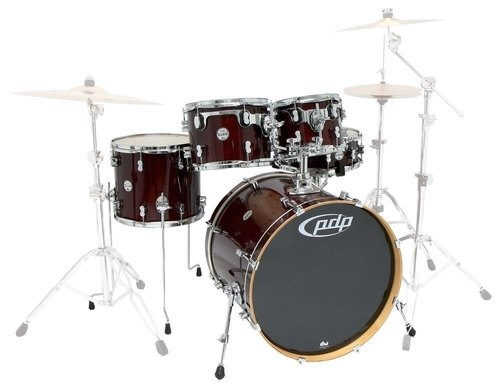 PDP by DW Shellset Concept Maple Red to Black Fade
