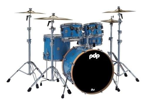 PDP by DW Shellset Concept Maple Ltd. Edition Blue Lacquer/Orange Hoops
